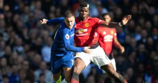 Chelsea's Eden Hazard and Manchester United's Paul Pogba Real Madrid