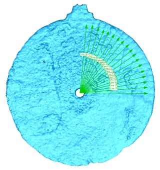 scanned astrolabe navigation lines