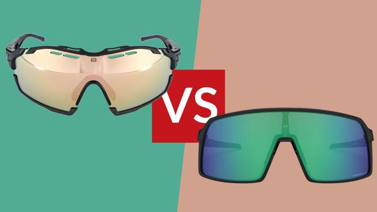 Oakley Sutro vs Rudy Project Cutline cycling sunglasses