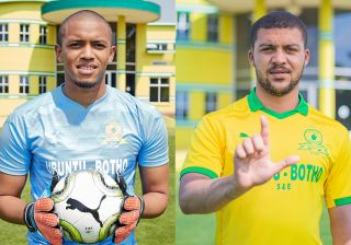 Mamelodi Sundowns new signing Jody February and Grant Margeman