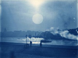A full moon in Stockholm, Sweden in 1900.