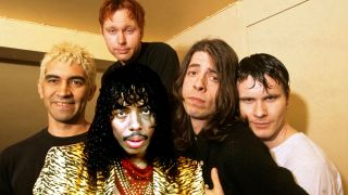 Rick James (front) with Foo Fighters