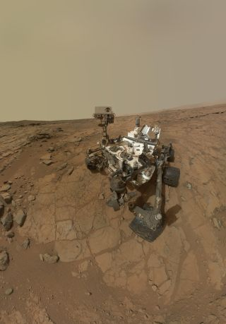 Mars Rover Curiosity Self-Portrait at John Klein Site