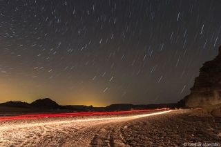 Star Trails Over Wadi Rum