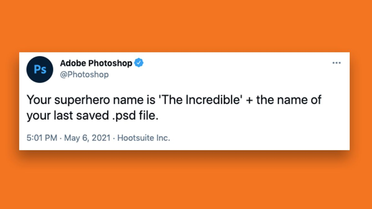 How to find out your Adobe Photoshop superhero name