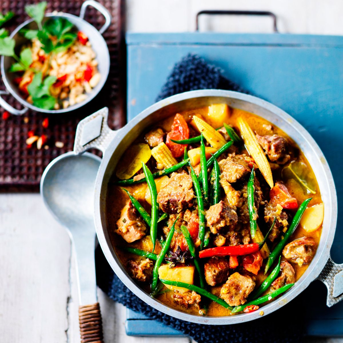 Indulge yourself on this hearty lamb massaman curry that's great on a Saturday night