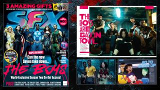 The cover and some of the contents of SFX issue 330.