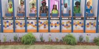 The Big Brother houseguests competing for HOH CBS