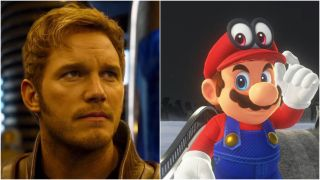 Chris Pratt in the Super Mario movie