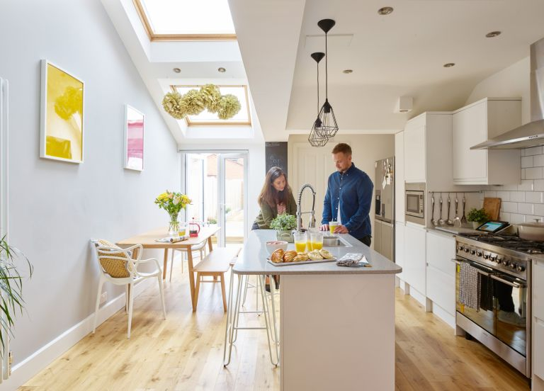 Amy and Gareth Andrew transformed their dated first-time house into a modern, practical space with on-trend touches