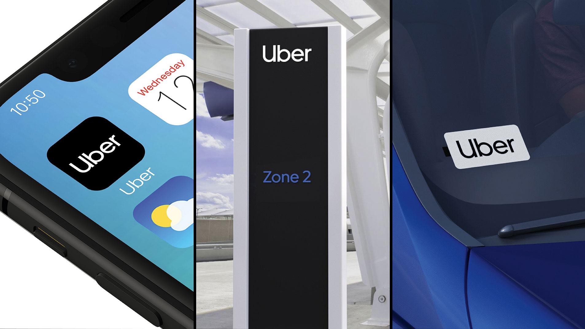 Uber rebrand in situ