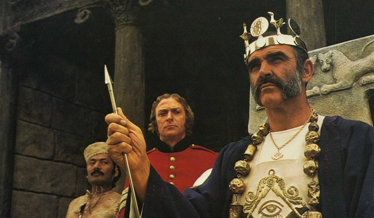 The Man Who Would Be King Sean Connery watches over his kingdom as Michael Caine watches him