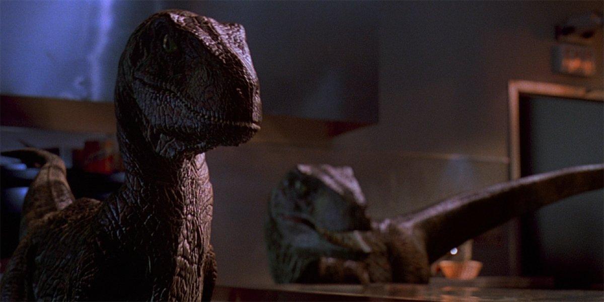 Jurassic Park Raptors in the kitchen
