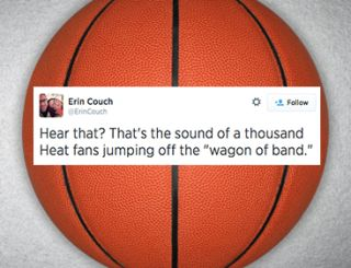 "Twitter Round-Up: ""That's the sound of a thousand Heat fans jumping off the 'wagon of band.'"""