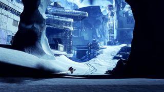 Destiny 2 Beyond Light scene with Guardian on sparrow