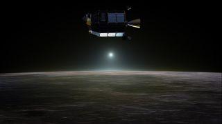 LADEE Above Lunar Sunset Artist's Concept
