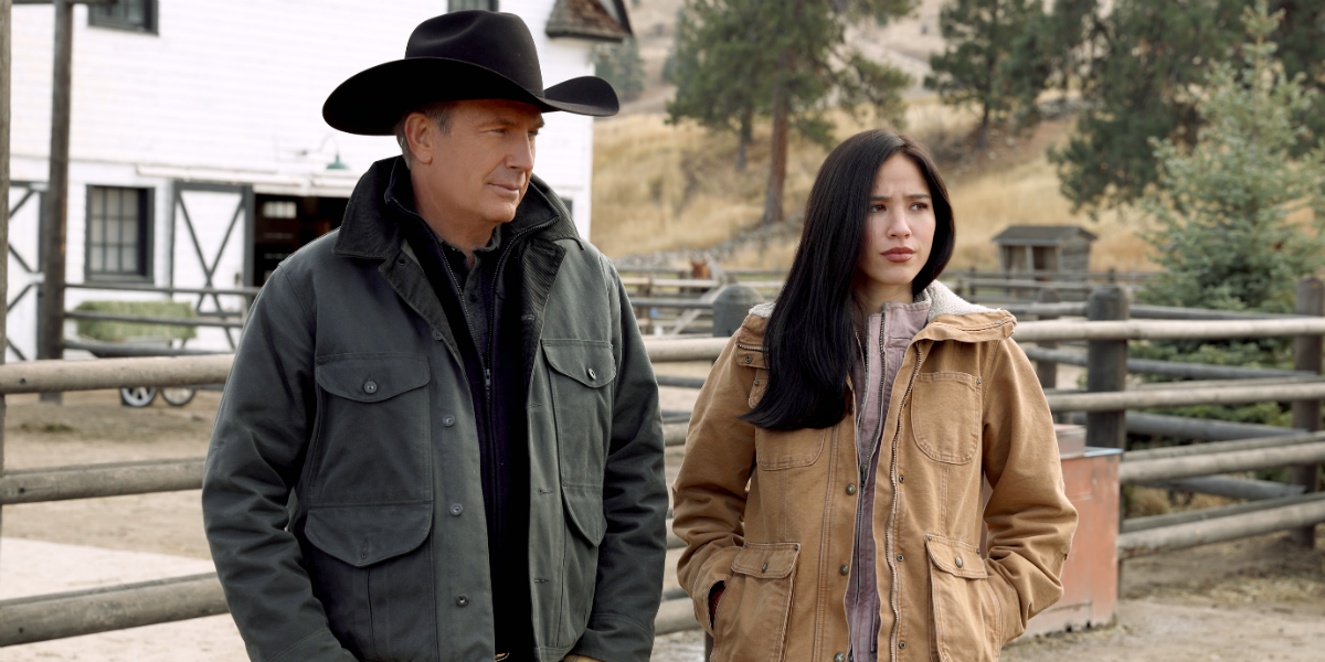 Yellowstone Kevin Costner John Dutton Kelsey Asbille Monica Long-Dutton Paramount Network
