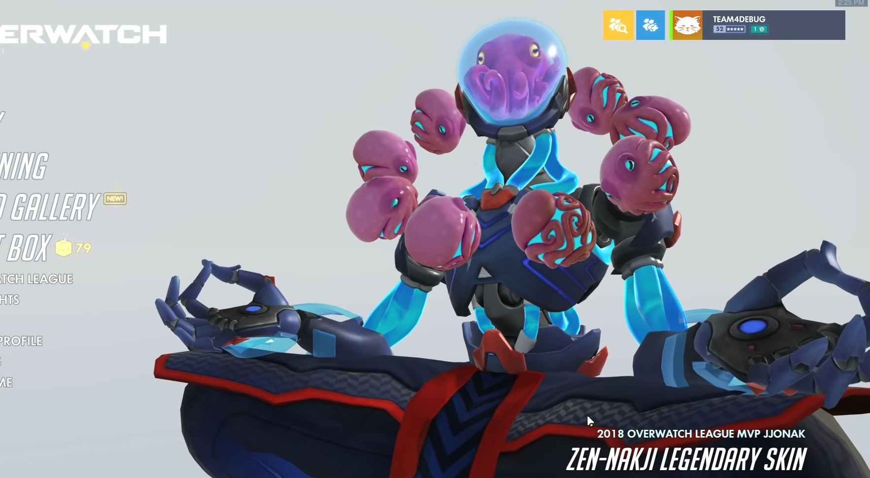 Overwatch's next skin is an octopus-themed tribute to 2018's best