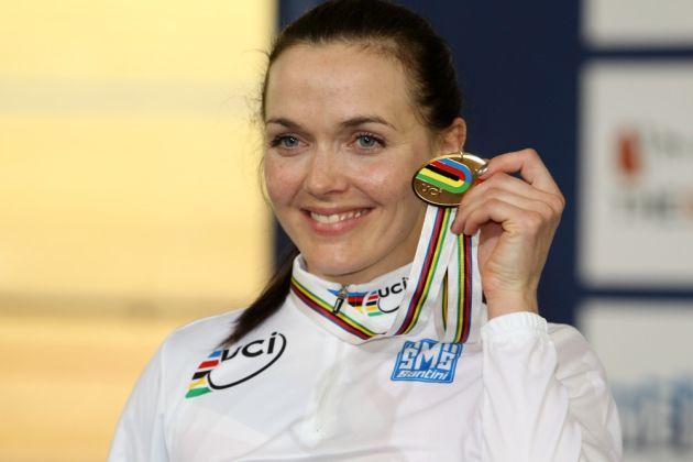 Sprint podium : Victoria Pendleton (Great Britain)