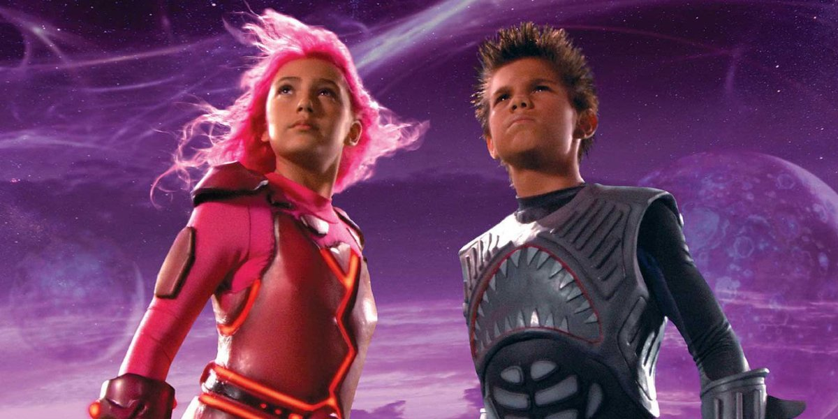 Taylor Dooley and Taylor Lautner in The Adventures of Sharkboy and Lavagirl 3-D