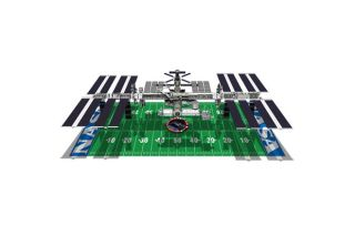 International Space Station Size Comparison to American Football Field