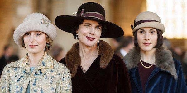 Elizabeth McGovern, Michelle Dockery, and Laura Carmichael in Downton Abbey