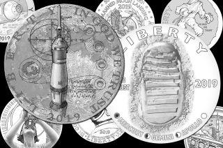 us mint apollo 11 coins obverse designs