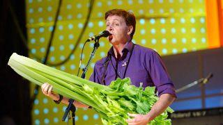 Paul McCartney and some lettuce