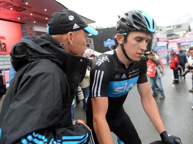 Geraint Thomas at finish, Giro d'Italia 2012, stage 14