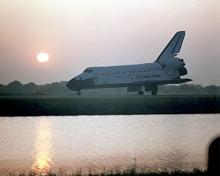 space history, space shuttle landings