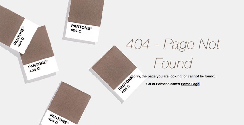 404 page: Pantone