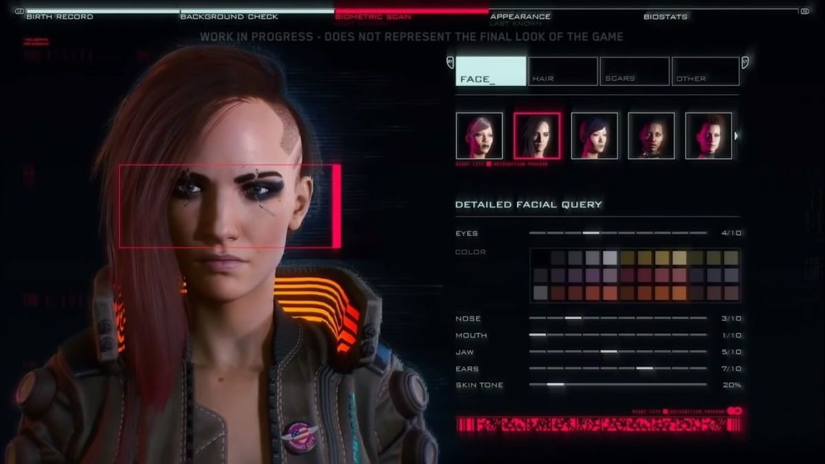 Cyberpunk 2077's character creation options won't be limited by gender