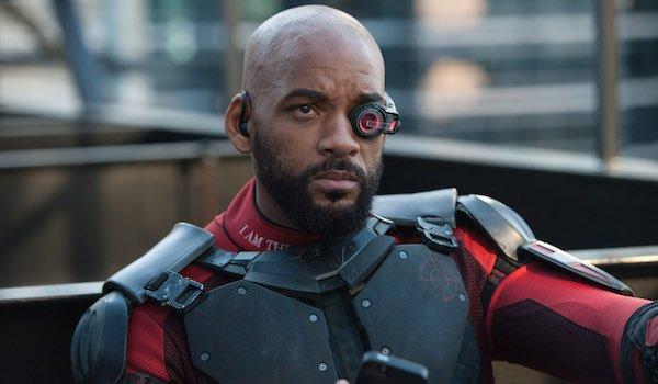 Will Smith in Deadshot costume in Suicide Squad