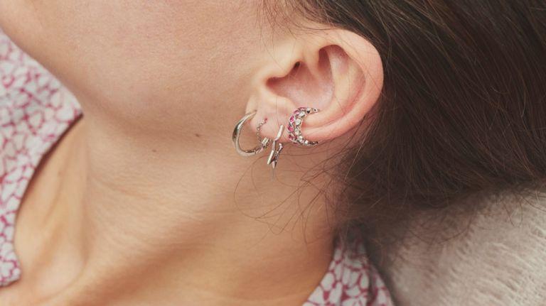 best silver huggie earrings