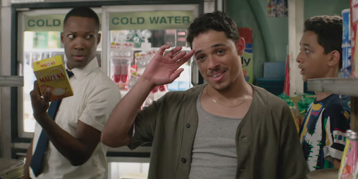 Corey Hawkins and Anthony Ramos in the In The Heights bodega