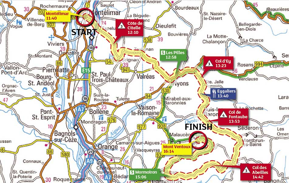 Tour de France 2009, stage 20 map