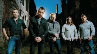Todd Harrell, pictured left, with 3 Doors Down