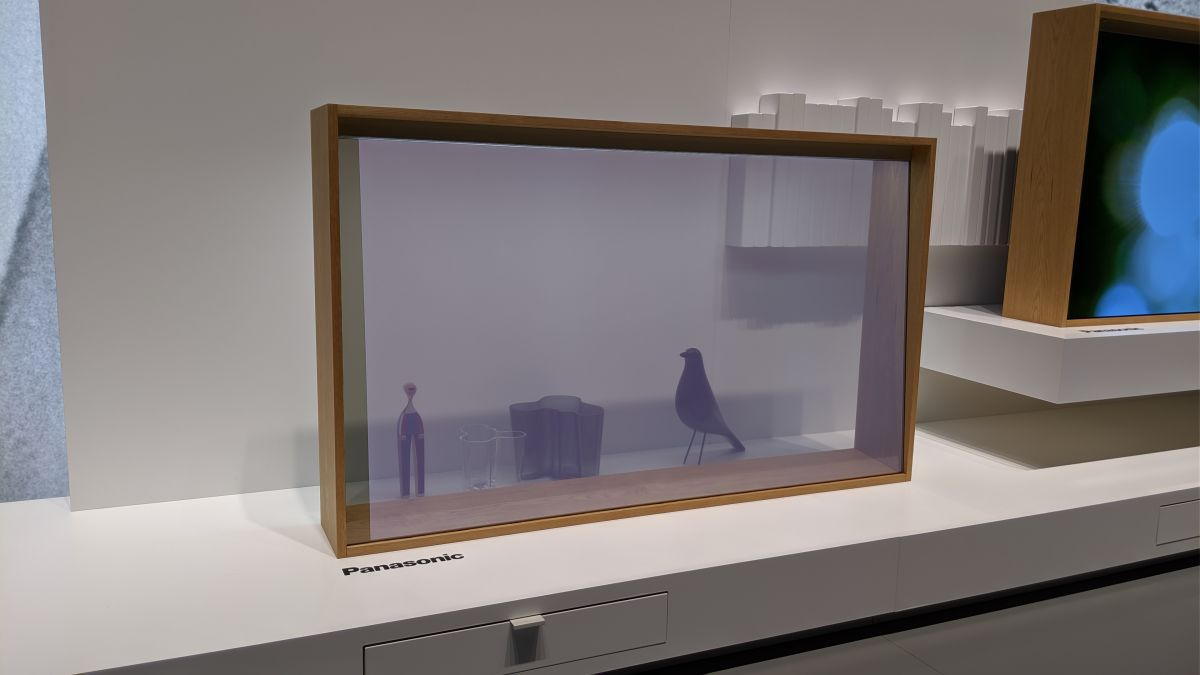 Panasonic's Stunning Transparent OLED TV Looks Like a Piece of Art