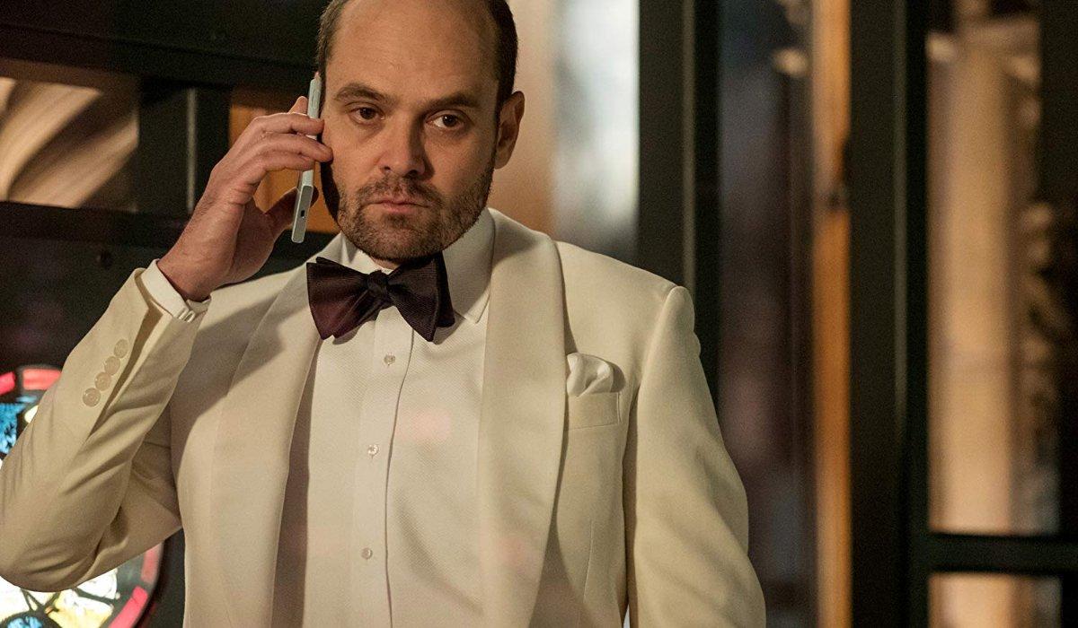 McMafia David Dencik in white tuxedo
