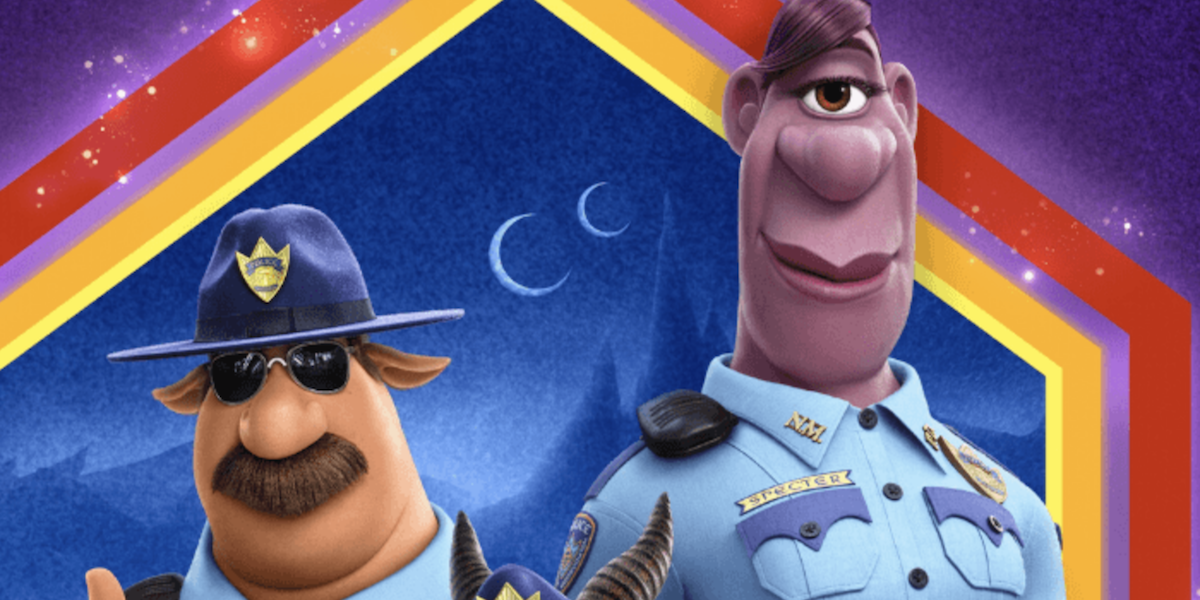 Cold Bronco (voiced by Mel Rodriguez) and Specter (voiced by Lena Waithe) in a promotional image fro