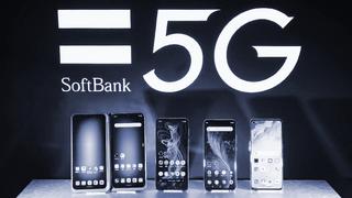 SoftBank logo and phones.