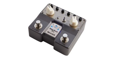 The shimmer function is assignable to all five of the pedal's reverb types