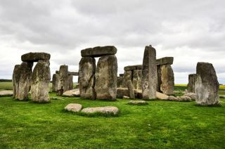 A gloomy summer day at Stonehenge in southern England.