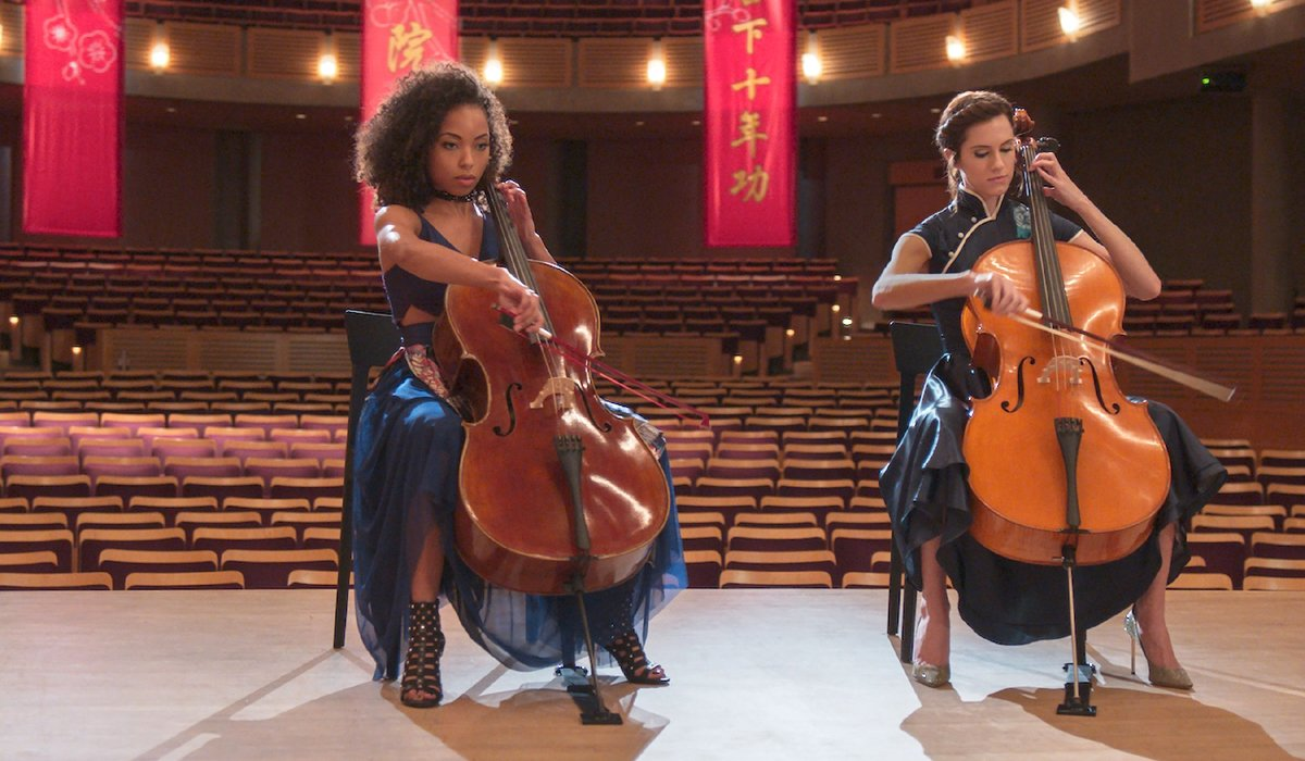 The Perfection playing cello Netflix