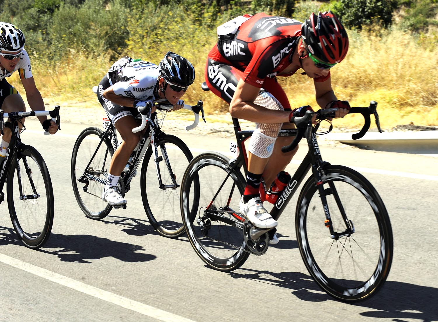 Taylor Phinney in early escape, Vuelta a Espana 2011, stage six