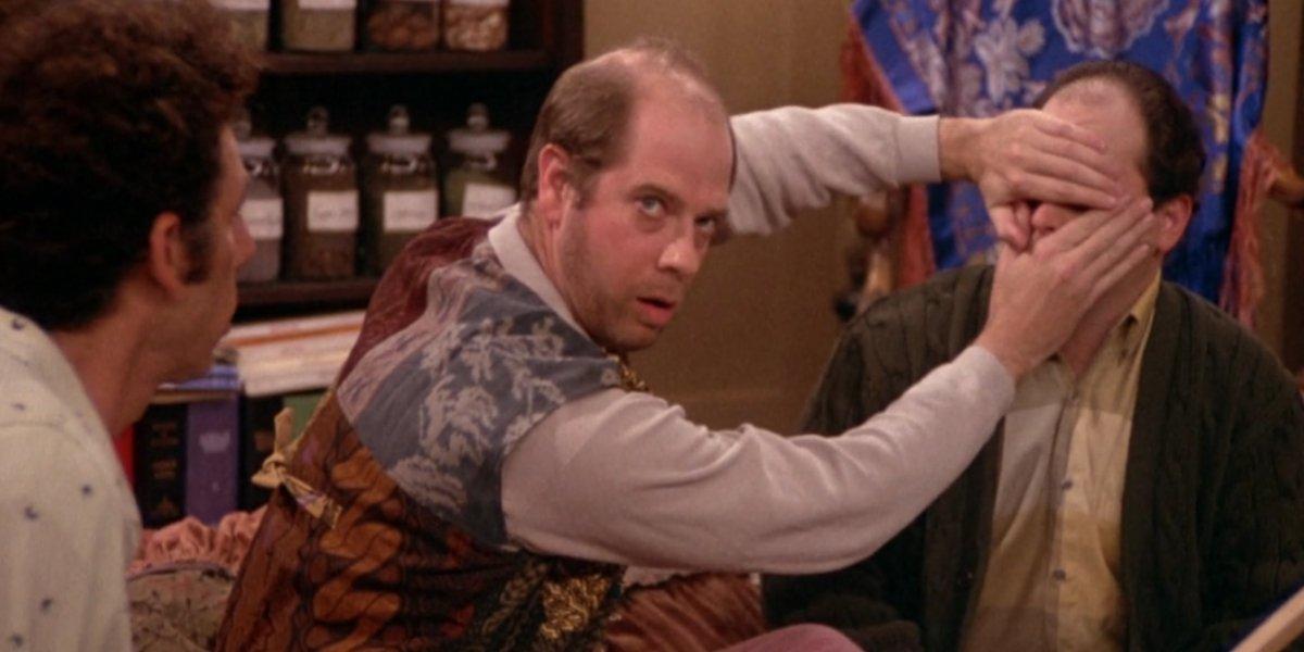 Michael Richards, Stephen Tobolowsky, and Jason Alexander on Seinfeld
