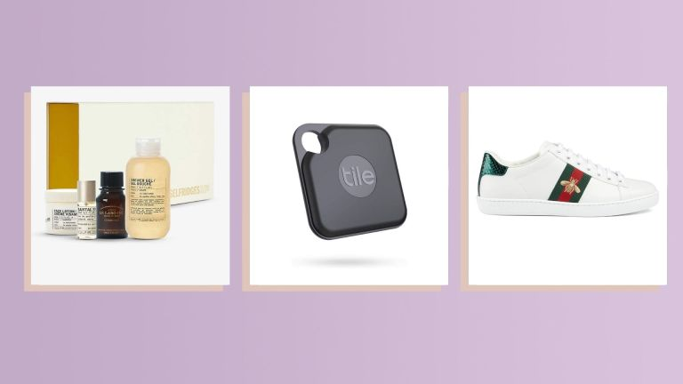 best 18th birthday gifts: Le Labo, Tile Pro tracker, and Gucci Bee-embroidered sneakers