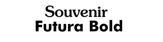 Font pairings: Souvenir and Futura