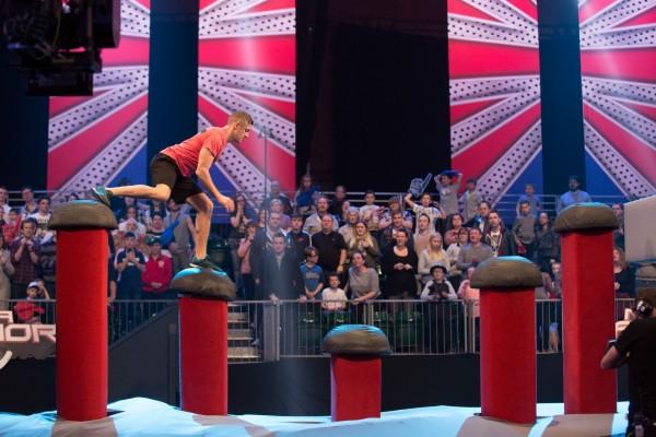 One of the tough challenge on the Ninja Warrior course (Rachel Joseph/ITV)