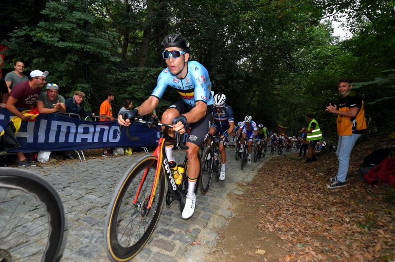 Wout van Aert during the Worlds road race